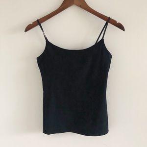 GAP Black Stretch Shelf Bra Cami Camisole XS